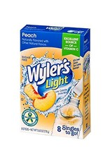 Wyler's Light Singles-To-Go Sugar Free Drink Mix, Peach, 8 CT Per Box Pa... - $18.42