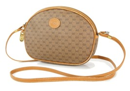 Auth Vintage GUCCI Brown GG PVC Canvas and Leather Shoulder Bag Purse #3... - $249.00