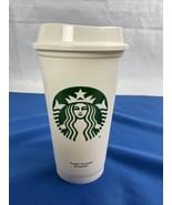 Starbucks Reusable Coffee Tea Cup Tumbler Lid Grande Travel 16 oz Plasti... - $10.88