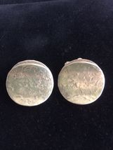GRET BARKIN Vintage Sterling Silver Hand Wrought CUFFLINKS Cuff Links -F... - $80.00