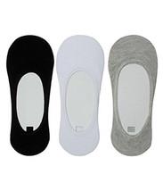 Men's Adidas Footlets  Cotton & mix lycra Loafer Socks pack of 3 in mult... - $7.79