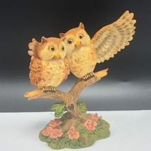 VINTAGE OWL FIGURINE resin statue sculpture bird Hamilton lil whoots lov... - $24.70