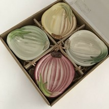 Williams Sonoma Set 4 Onion Dipping Condiment Bowls NEW In Box - $18.77