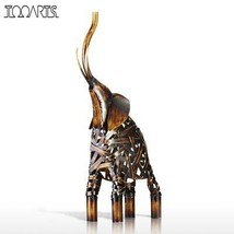 Metal Weaving Elephant Figurine Iron Figurine Home Decor Animal CraftGif... - $44.45