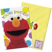 Sesame Street Elmo Birthday Save The Date Party Invitations 8 Per Package NEW - $4.90