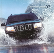 2003 Jeep GRAND CHEROKEE sales brochure catalog US 03 Laredo Overland - $8.00