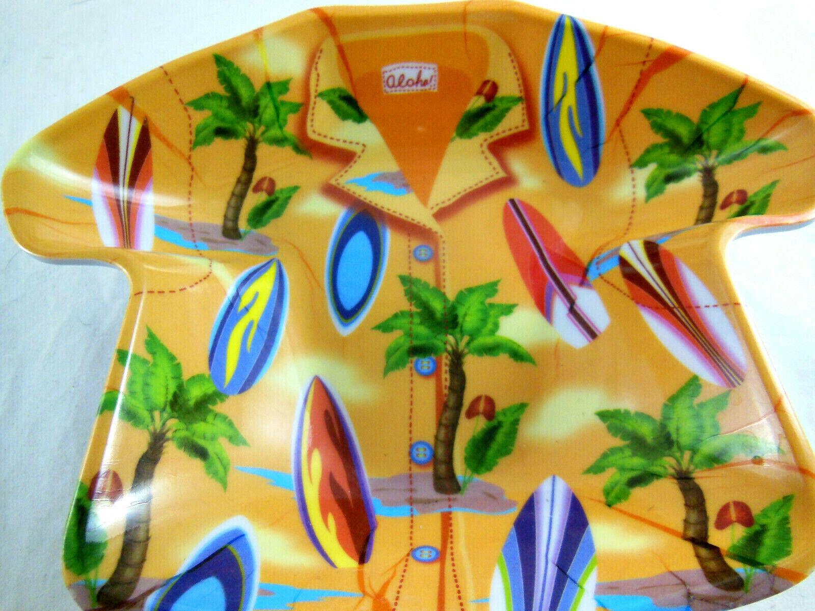 "HONOLULU HARD ROCK CAFE TIKI Tall Shot Glass 4""+dish and key fob Hawaiin"