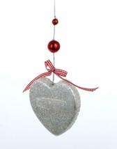 """Kurt Adler 3"""" Gingerbread Kisses Silver Heart Cookie Cutter Christmas Ornament - $5.68"""