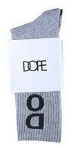 Dope Couture Superior Acrylic/Cotton Blend Grey Ankle Crew Socks NEW image 2