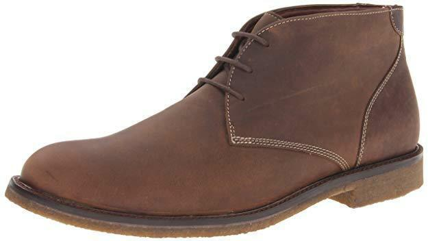 New Johnston Murphy Copel and Chuck Men's Tan Brown Leather Crepe Sole Shoes NIB