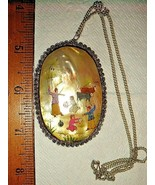 VTG STERLING SILVER PERSIAN ART HP STORYTELLER GOLDEN SHELL PENDANT NECK... - $297.99