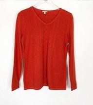 Talbots Orange Sweater Long Sleeve Top Size S - $19.79