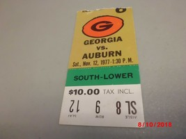 Auburn Tigers vs Georgia Bulldogs November 12,1977 Football Game Ticket ... - $2.97