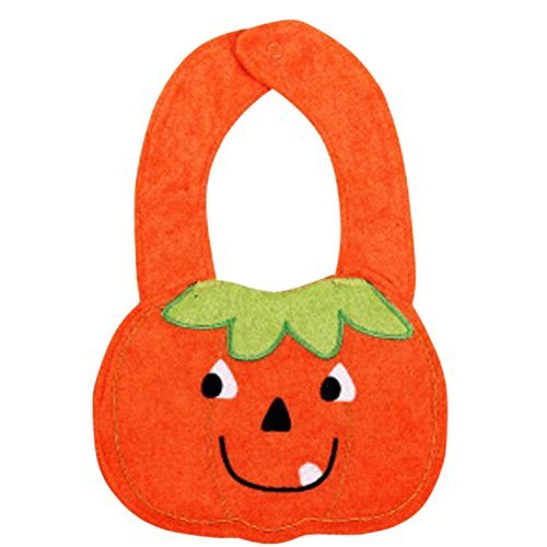 Primary image for 2 Cotton Baby Bibs Overclothes Infants Feeding Bibs, 1-2 Years-Pumpkin