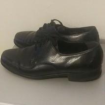 NUNN BUSH Mens Oxfords Dress Shoes Black Leather Captoe 9 1/2 d - $21.68