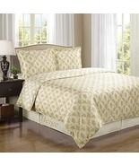 Sierra Beige/Ivory Silky Soft 100-Percent Egyptian Cotton Reversible Duv... - $81.69