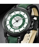 Mens Watches Military Leather Sports Quartz Watches Luxury Out Door Wris... - $9.99