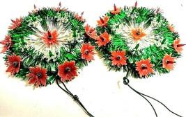 Vintage Bradford Christmas Tree Star Topper Light blinks & solid 2 piece... - $64.35