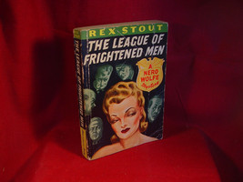 Rex Stout THE LEAGUE OF FRIGHTENED MEN Avon #20 paperback - $29.40