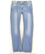 Levi 542 jeans slouch 10 x 31 flare twisted leg flap back pockets boho h... - $69.29