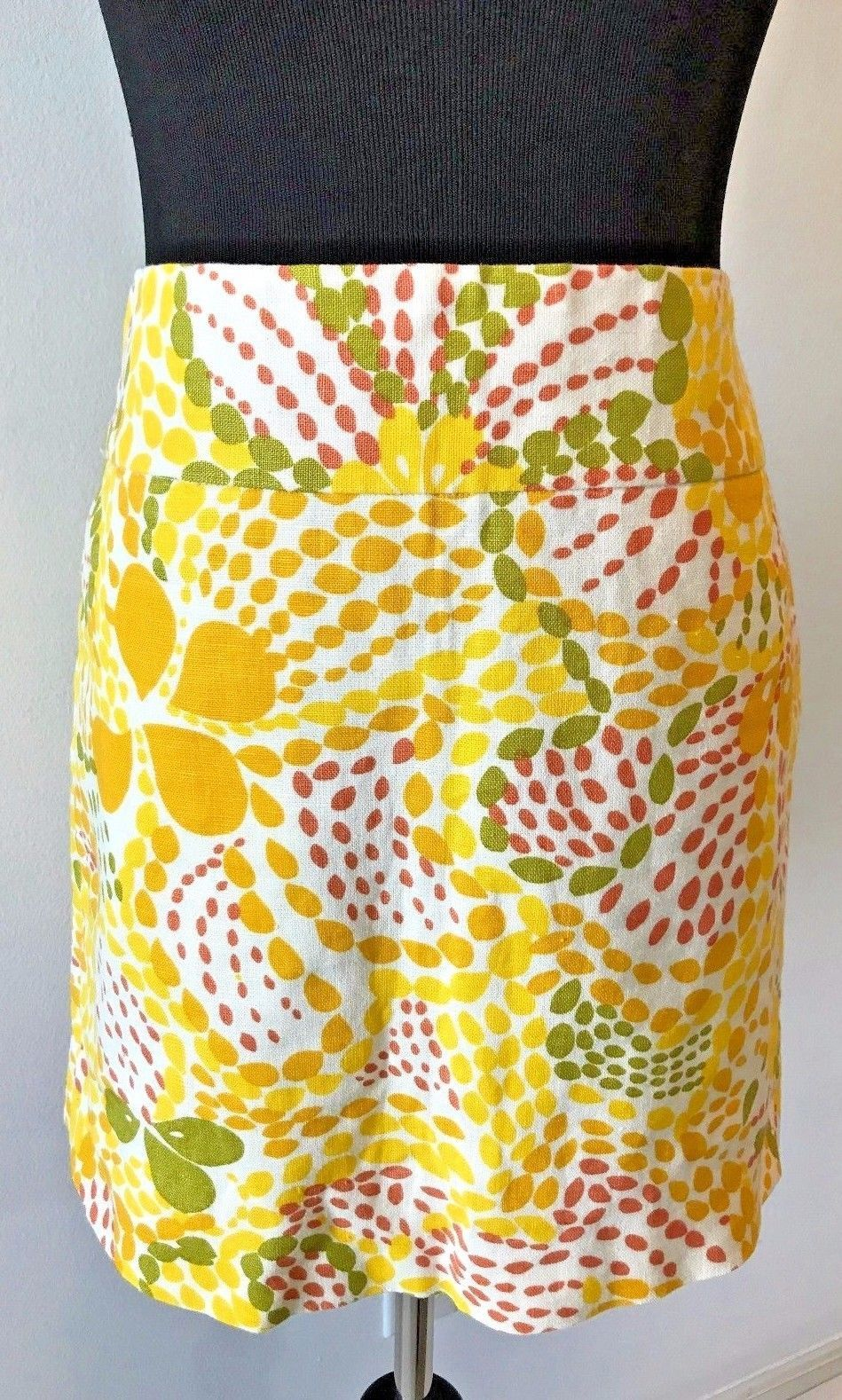 db934e9ffa S l1600. S l1600. Previous. J Crew 100% Linen Yellow Green Burnt Orange  White Floral Mini Skirt size 0 SK6