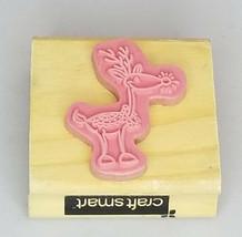 Craftsmart Reindeer Rubber Mounted on Wood Stamp image 2
