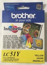 Genuine OEM Brother LC51Y Yellow Ink Single Pack In Retail Package Free ... - $9.73