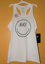 Nike Girls Dry-Fit tank top White Smiley Face M 7-8 or L10-12 NWT - $12.99