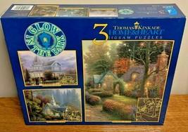 Thomas Kinkade Home & Heart three 3 jigsaw puzzle New sealed - $14.25