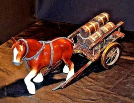 Ceramic Clydesdale Horse with Cart of six Barrels AA18-1318 Vintage image 2