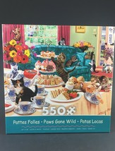Paws Gone Wild Ceaco 550 Piece Puzzle Paws Gone Wild 24 x 18 Complete - $9.85
