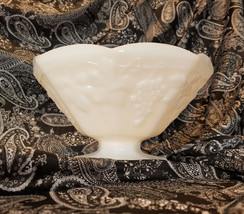 Vintage Anchor Hocking Harvest Milk Glass Footed Serving Bowl (circa 1960s) - $9.00