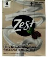 1 Count Zest Creamy Indulgence Ultra Moisturizing Cocoa Butter Shea  8 B... - $17.99
