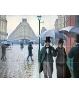 Paris Street; Rainy Day By Gustave Caillebotte - 20 Tile Art Mural, Kitc... - $216.00