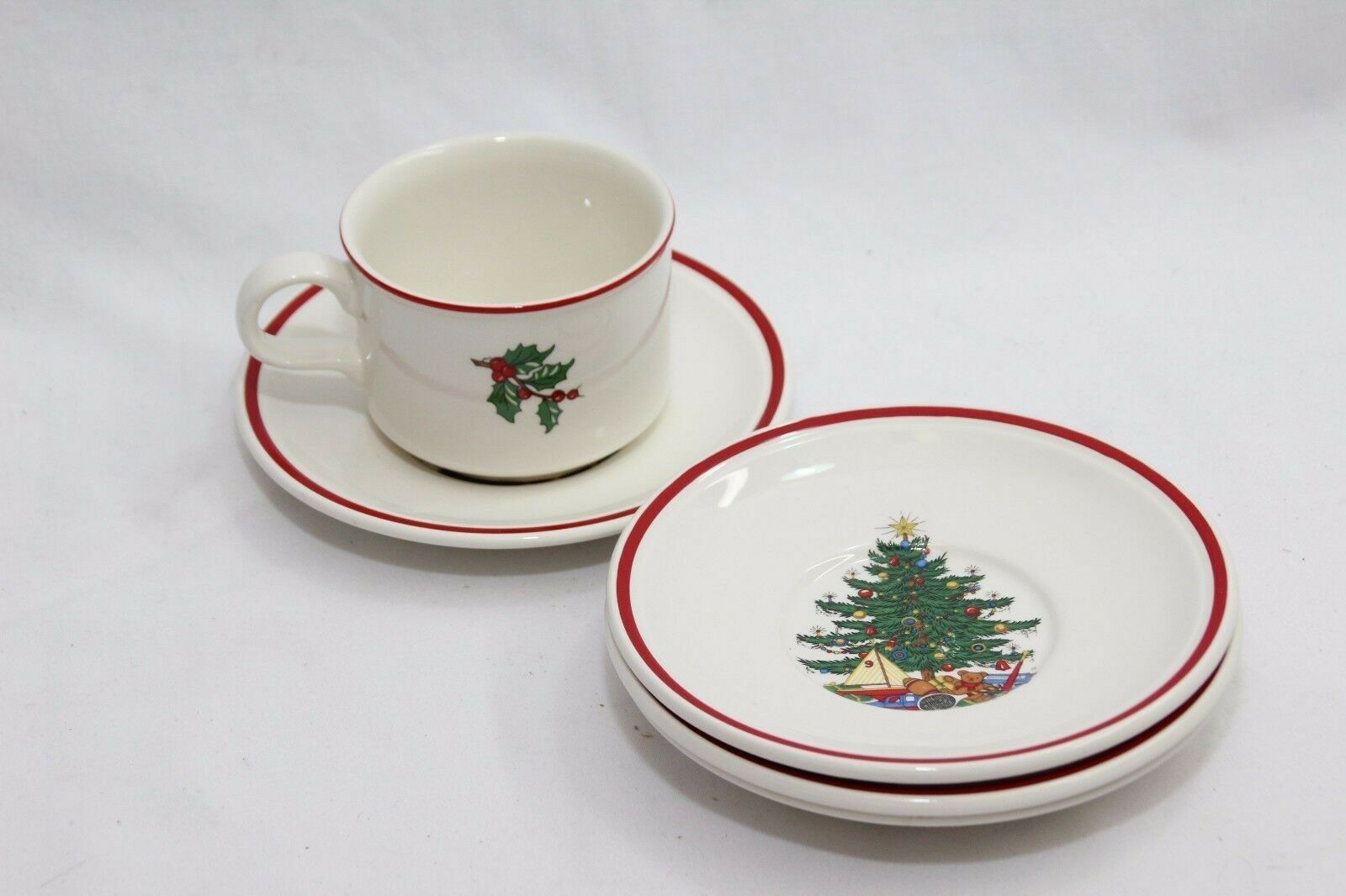 Primary image for Cuthbertson American Xmas Tree Saucers and Cup