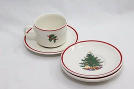 Cuthbertson American Xmas Tree Saucers and Cup - $33.31