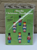 Bucilla Christmas Needlepoint Kit Ornaments Set of 6 Toy Soldiers & Dolls Girls  - $19.80