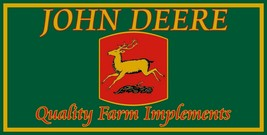 John Deere Quality Farm Implements Vintage Logo Metal Sign - $49.95