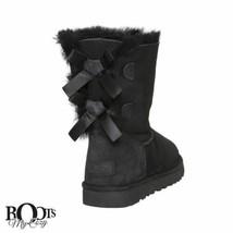 UGG BAILEY BOW II BLACK SUEDE SHEEPSKIN CLASSIC BOOTS SIZE US 9/UK 7.5/E... - $189.99