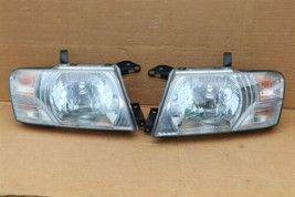 03-06 Mitsubishi Montero Limited Headlight Head Light Lamps Set L&R - POLISHED image 1