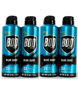 (Pack of 4) Bod Man Blue Surf 2X Fragrance Body Spray Boosted With Caffe... - $30.68