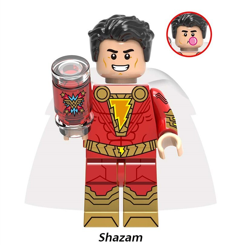 X0247 dc super hero shazam billy batson figure freddy freeman black adam dr sivana pedro pena