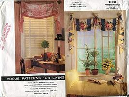 Vogue Patterns for Living 1081 Susanna Stratton-Norris Window Treatments - $9.47