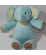 Target LIGHT BLUE ELEPHANT Musical CRIB PULL TOY LOVEY Soft Raschel BABY TOY - $12.86