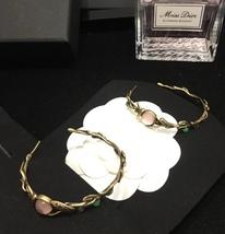AUTHENTIC Christian Dior 2019 LE PRINTEMPS DE DIOR Enamel Hoop Earrings RARE image 8