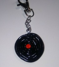Unique Record Charm Keychain Accessory Clay Charm Record Retro Fob Keys ... - $6.50