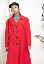 70s vintage red coat - $90.81