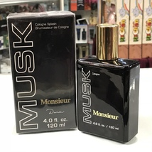 Musk Monsieur by Dana for Men, 4.0 fl.oz / 120 ml cologne splash - $39.98