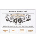 Midway Courtesy Card Conklin & Garrett Spidora Atlantica Mermaid 1960s - $3.93