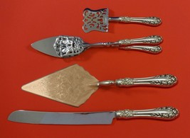 Rose by Wallace Sterling Silver Dessert Serving Set 4pc Custom Made - $284.05